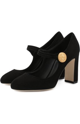 Замшевые туфли Mary Jane Vally  | Фото №1