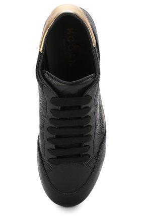 Кожаные кросcовки Maxi на платформе | Фото №5
