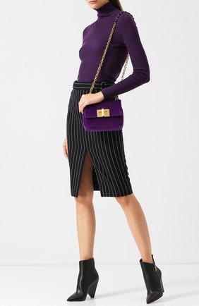 Женская сумка small natalia TOM FORD фиолетового цвета, арт. L0983S-V06   Фото 2