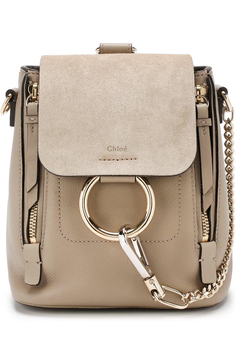 Женский рюкзак faye mini CHLOÉ серого цвета, арт. CHC17SS232HEU | Фото 1