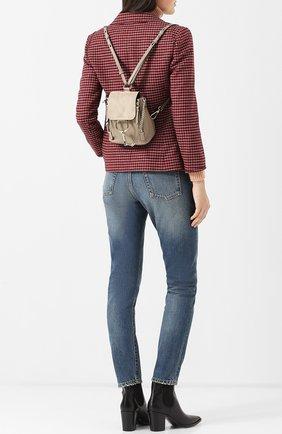 Женский рюкзак faye mini CHLOÉ серого цвета, арт. CHC17SS232HEU | Фото 2