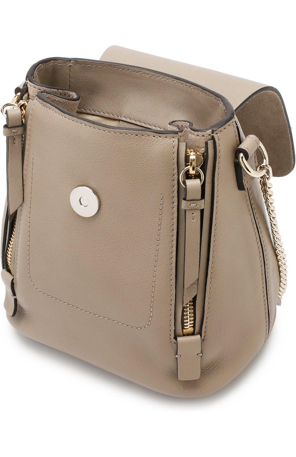 Женский рюкзак faye mini CHLOÉ серого цвета, арт. CHC17SS232HEU | Фото 4