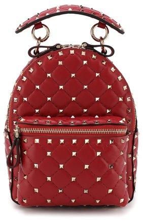 Женский рюкзак valentino garavani rockstud spike mini VALENTINO красного цвета, арт. QW1B0B63/NAP | Фото 1