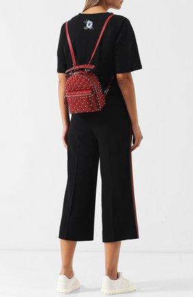 Женский рюкзак valentino garavani rockstud spike mini VALENTINO красного цвета, арт. QW1B0B63/NAP | Фото 2