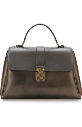 Женская сумка piazza large BOTTEGA VENETA бронзового цвета, арт. 495848/VA2Q0 | Фото 1