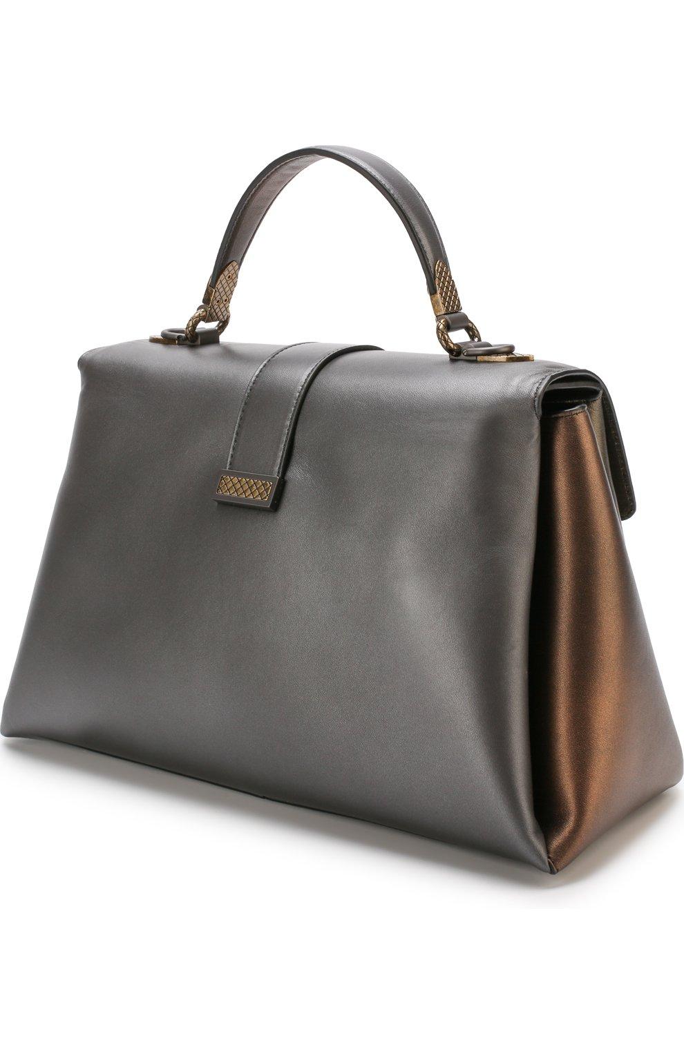 Женская сумка piazza large BOTTEGA VENETA бронзового цвета, арт. 495848/VA2Q0 | Фото 3
