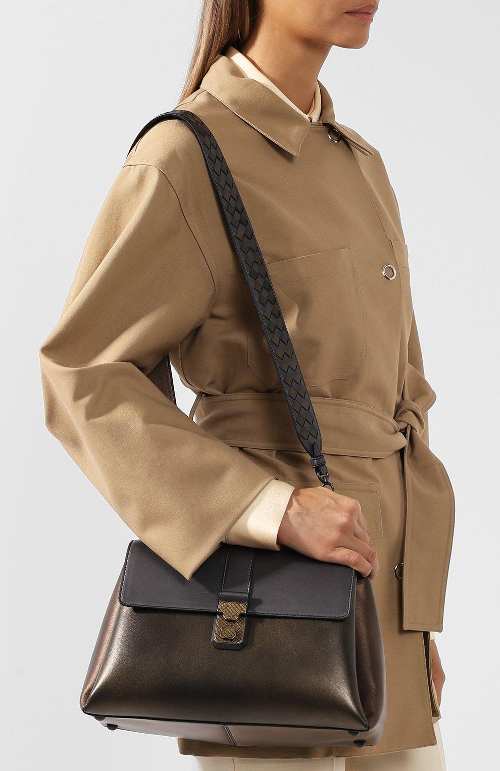 Женская сумка piazza large BOTTEGA VENETA бронзового цвета, арт. 495848/VA2Q0 | Фото 5
