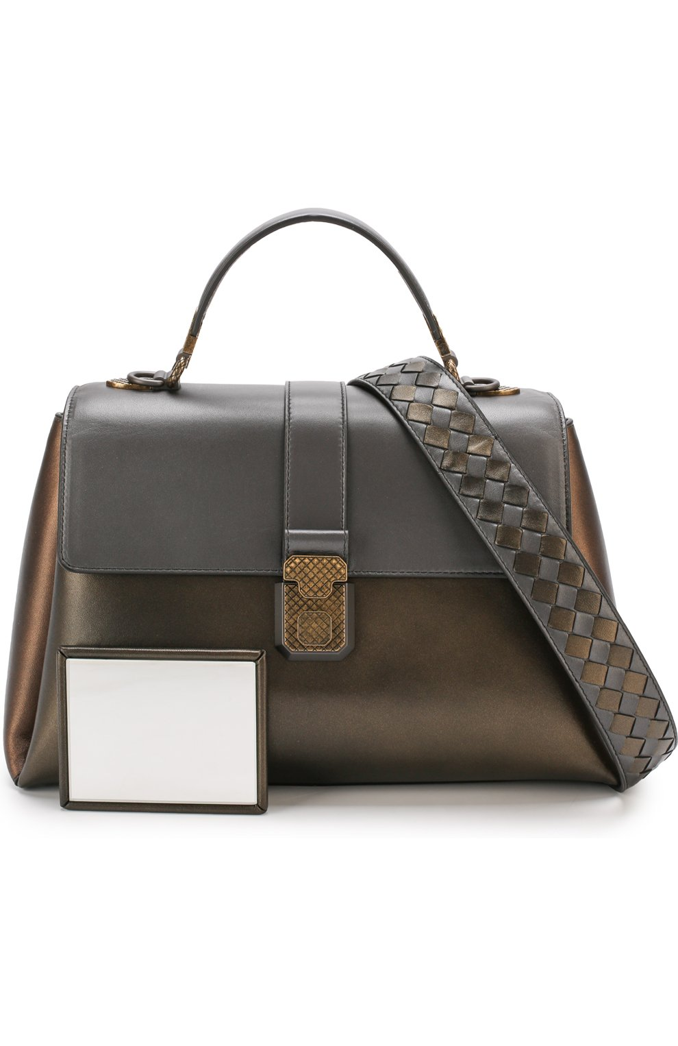 Женская сумка piazza large BOTTEGA VENETA бронзового цвета, арт. 495848/VA2Q0 | Фото 6