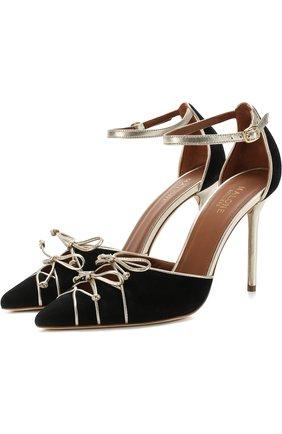 Замшевые туфли Josephine на шпильке Malone Souliers черные | Фото №1