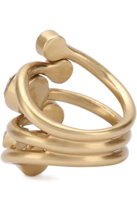 Кольцо с кристаллами Swarovski St. John золотое | Фото №1