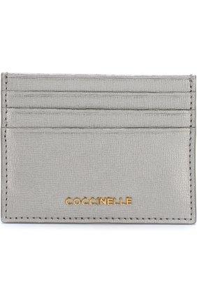 Кожаный футляр для кредитных карт Coccinelle серебряного цвета | Фото №1
