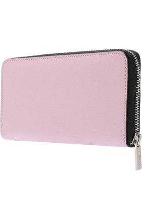 Кожаный кошелек на молнии Coccinelle розового цвета | Фото №1