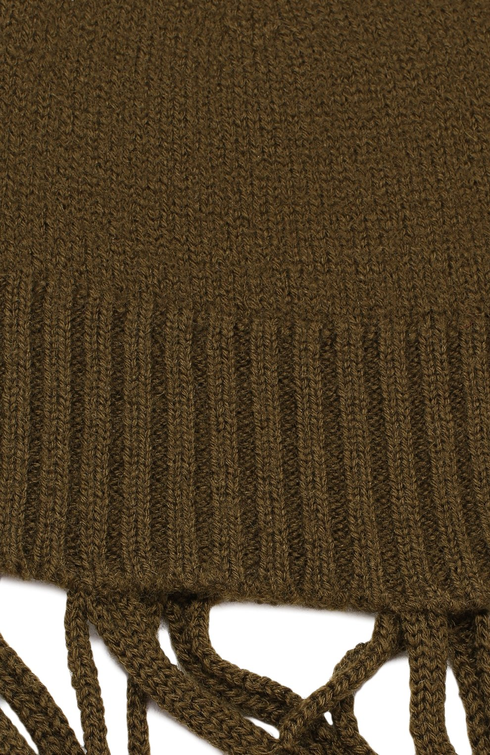 Шерстяная балаклава Rick Owens темно-зеленого цвета | Фото №3