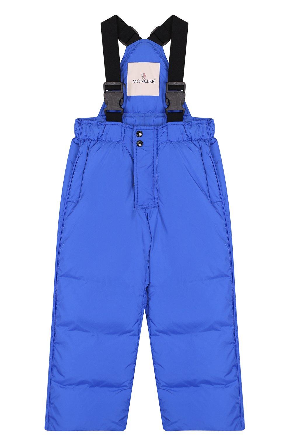 Детский пуховый комбинезон на подтяжках MONCLER ENFANT синего цвета, арт. D2-954-14344-05-68352/4-6A | Фото 1