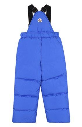 Детский пуховый комбинезон на подтяжках MONCLER ENFANT синего цвета, арт. D2-954-14344-05-68352/4-6A | Фото 2