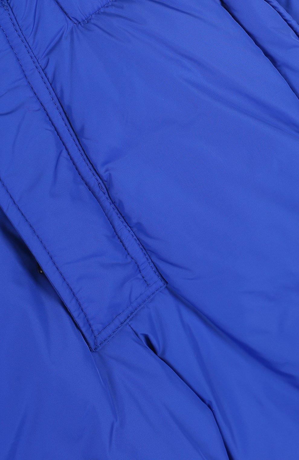 Детский пуховый комбинезон на подтяжках MONCLER ENFANT синего цвета, арт. D2-954-14344-05-68352/4-6A | Фото 3