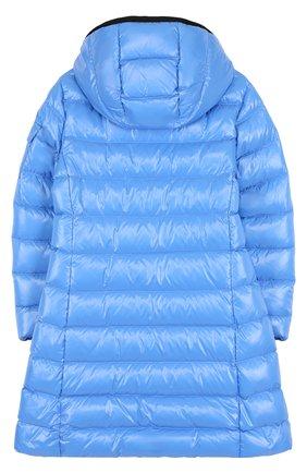 Пуховое пальто на молнии с капюшоном | Фото №2