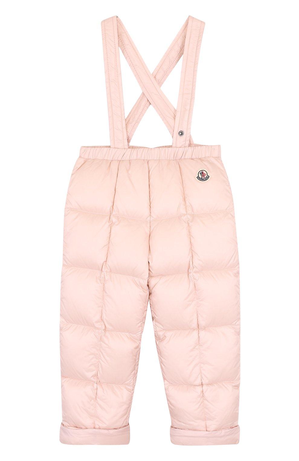 Детский комплект из пуховой куртки и комбинезона на подтяжках MONCLER ENFANT светло-розового цвета, арт. D2-951-70336-25-53048 | Фото 3
