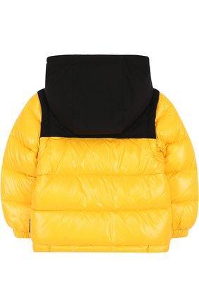 Пуховая куртка на молнии с капюшоном | Фото №2