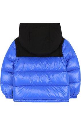 Детского пуховая куртка на молнии с капюшоном MONCLER ENFANT синего цвета, арт. D2-951-41875-85-68950 | Фото 2