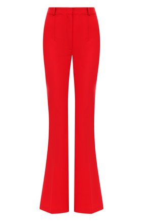 Однотонные расклешенные брюки из шерсти Michael Kors Collection красные | Фото №1