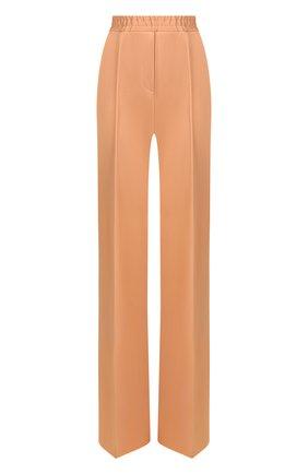 Однотонные брюки прямого кроя со стрелками | Фото №1