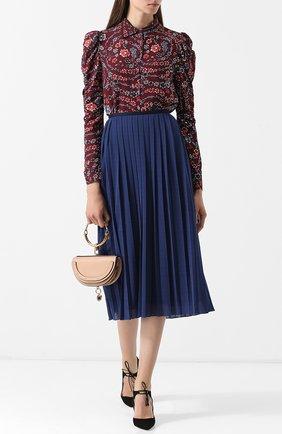 Женская блуза из вискозы с цветочным принтом See by Chloé, цвет бордовый, арт. CHS18AHT28029 в ЦУМ   Фото №1