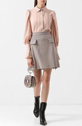 Женская однотонная блуза с расклешенными рукавами See by Chloé, цвет розовый, арт. CHS18AHT41033 в ЦУМ   Фото №1