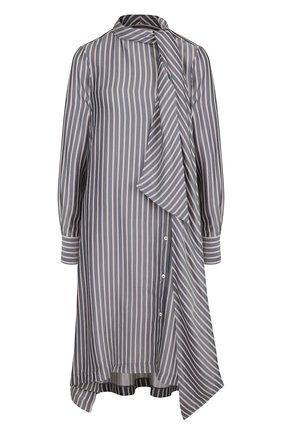 Платье-миди с воротником аскот See by Chloé белое   Фото №1