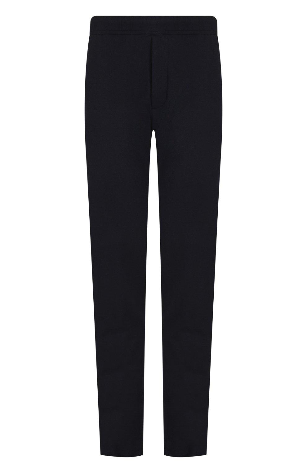 Кашемировые брюки прямого кроя с поясом на резинке | Фото №1