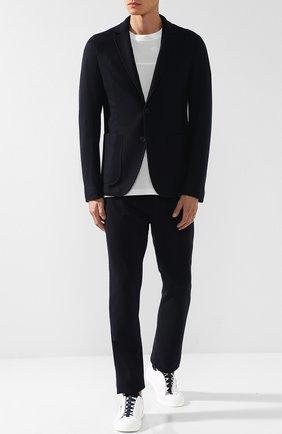 Кашемировые брюки прямого кроя с поясом на резинке | Фото №2