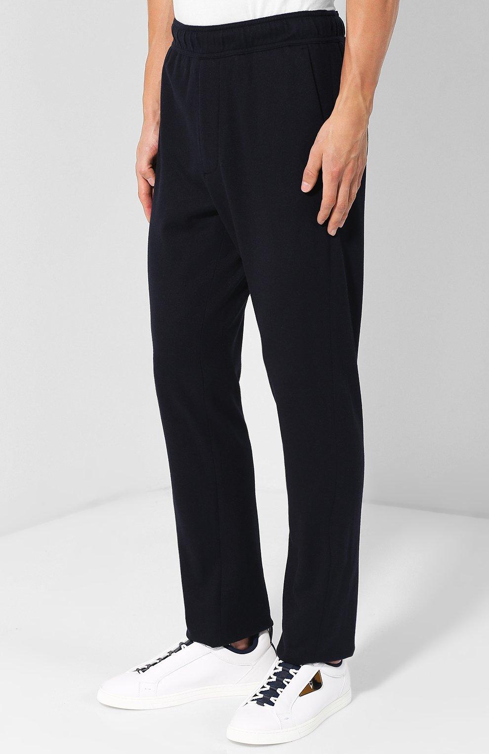 Кашемировые брюки прямого кроя с поясом на резинке | Фото №3