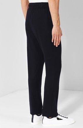 Кашемировые брюки прямого кроя с поясом на резинке | Фото №4