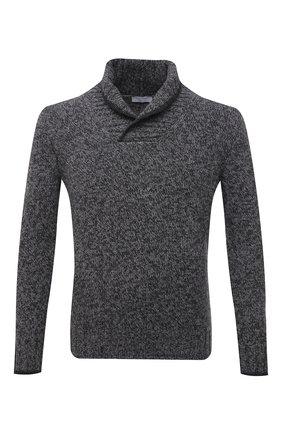 Шерстяной свитер с шалевым воротником