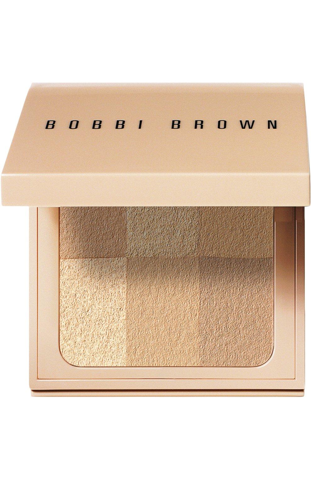 Компактная пудра nude finish illuminating powder, оттенок nude BOBBI BROWN бесцветного цвета, арт. EELP-03   Фото 1