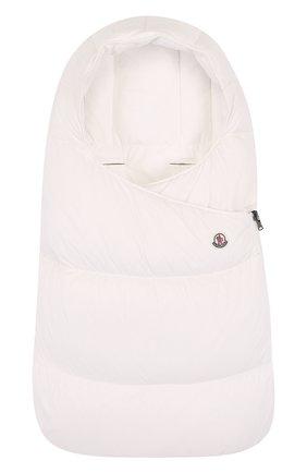 Детский пуховый конверт MONCLER ENFANT белого цвета, арт. D2-951-00828-05-53079 | Фото 1