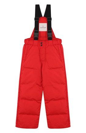 Детский пуховый комбинезон на подтяжках MONCLER ENFANT красного цвета, арт. D2-954-14344-05-68352/4-6A | Фото 1