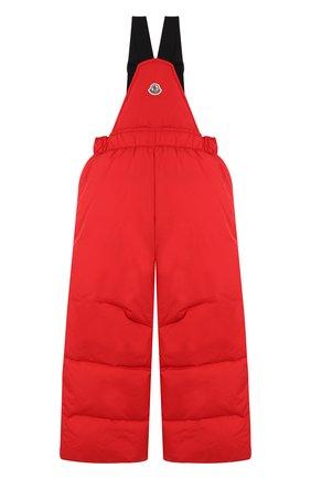 Детский пуховый комбинезон на подтяжках MONCLER ENFANT красного цвета, арт. D2-954-14344-05-68352/4-6A | Фото 2