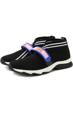 Текстильные кроссовки Rockocko с ремешком | Фото №1