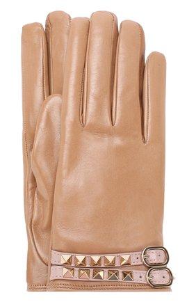 Кожаные перчатки Valentino Garavani Rockstud   Фото №1