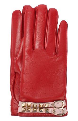 Кожаные перчатки Valentino Garavani Rockstud