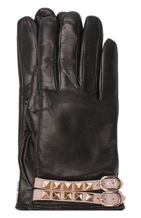Кожаные перчатки Valentino Garavani Rockstud | Фото №1