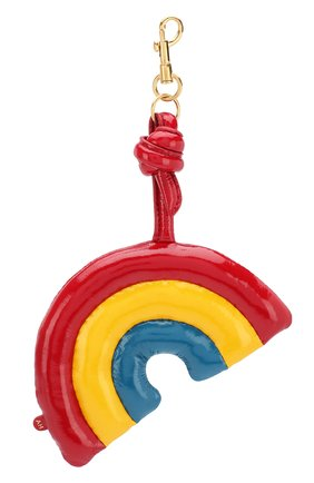 Кожаный брелок Chubby Rainbow Anya Hindmarch разноцветный | Фото №1