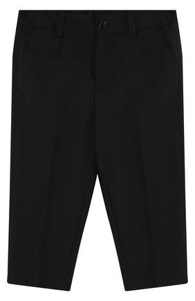 Детские шерстяные брюки DOLCE & GABBANA черного цвета, арт. L12P59/FUBBG | Фото 1