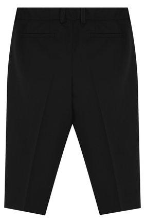 Детские шерстяные брюки DOLCE & GABBANA черного цвета, арт. L12P59/FUBBG | Фото 2