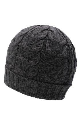 Детского шерстяная шапка фактурной вязки MONCLER ENFANT серого цвета, арт. D2-954-00110-05-04S02 | Фото 2