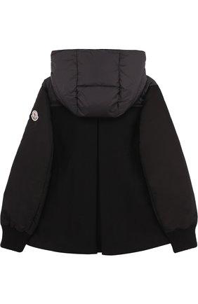 Пуховая куртка с текстильной спинкой и капюшоном | Фото №2