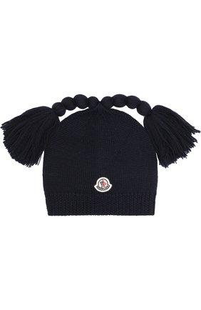 Шерстяная шапка с декором | Фото №1