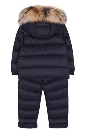 Детский комплект из пуховой куртки и комбинезона на подтяжках MONCLER ENFANT синего цвета, арт. D2-951-70335-25-53079 | Фото 2