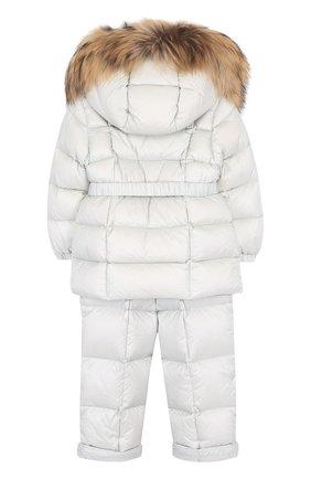 Детский комплект из пуховой куртки и комбинезона на подтяжках MONCLER ENFANT светло-серого цвета, арт. D2-951-70336-25-53048 | Фото 2
